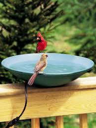 wbu heated bird bath with ez tilt to clean deck mount