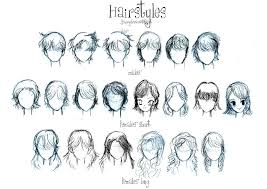 hairstyles drawing reference tuny for
