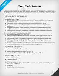 cook resume exles prep cook resume sle writing tips resume companion