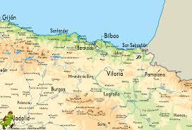 Burgos Spain Map by Ruta Mikeldi