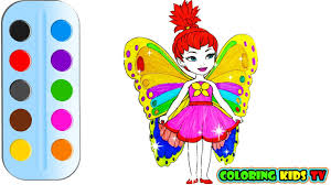 coloring pages little fairy u0026 drawing for children how to color