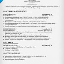 Student Resume Summary Examples by Cad Drafter Resume Resume For Your Job Application