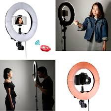 neewer macro ring led light neewer 12 inch inner 14 inch outer led ring light and amazon co uk