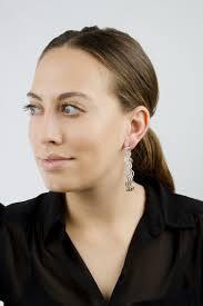70 s earrings 63m silvertone 70 s style hoop earrings