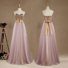 ball gown tulle mix sequins bridesmaid dress a line sweetheart