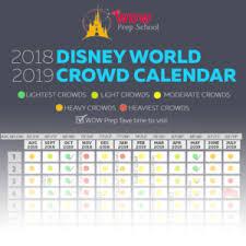 disney world 2018 2019 crowd calendar best times to visit