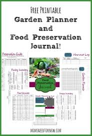 printable vegetable planner free printable garden planner and food preservation journal garden