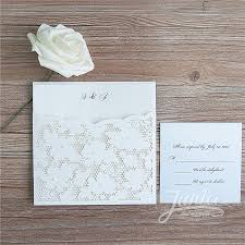 wedding invitation pocket fancy floral pearl laser cut wholesale pocket wedding invitation