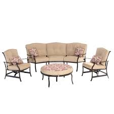 Patio Recliners Chairs Rst Brands Deco 8 Piece Patio Seating Set With Tikka Orange