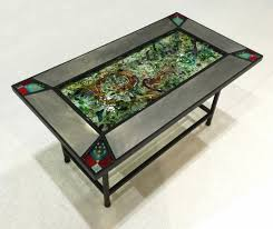 glass for coffee table beautiful fused glass coffee tables