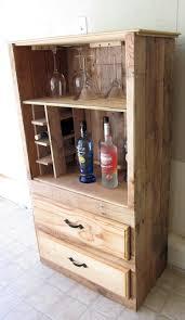 Oak Bar Cabinet Rustic Barliquornet Made From Pallet Wood Furniture Barrel Liquor