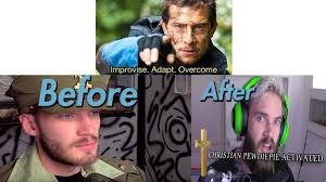 Before And After Meme - pewds in adpocalypse before after meme pewdiepiesubmissions