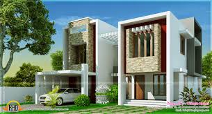modern villa design square feet indian house plans architecture