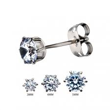 titanium stud earrings titanium prong set stud earrings invictus jewelry