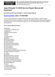 jeep wrangler tj 2002 service repair manual pdf download pdf pdf