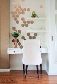 Decoration Geometric Wall Decals Home by Copper Hexagon Decoration Gold Geometric Honeycomb Wall Decal