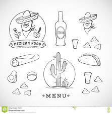 food vector mexican food vector illustrations set with logo template for