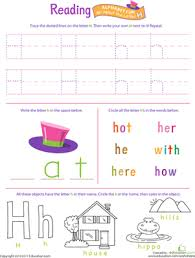 get ready for reading all about the letter h worksheet
