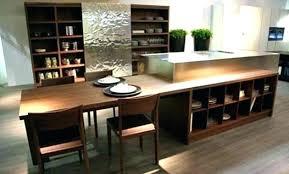 table cuisine retractable table bar de cuisine avec rangement bar avec 2 allonges rabattables