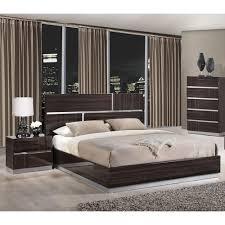 tribeca bedroom set in high gloss brown wood grain dcg stores
