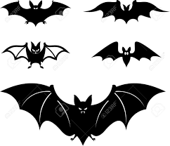 cartoon style vampire bats vector illustration royalty free
