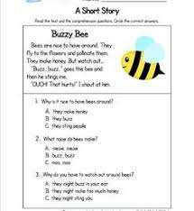 kindergarten reading worksheets with comprehension questions