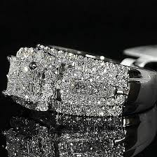 big wedding rings wedding ring princess cut in style cathedral side mm big