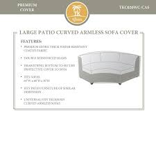 Extra Large Garden Furniture Covers - amazon com bermuda tuscan miami curved armless sofa outdoor