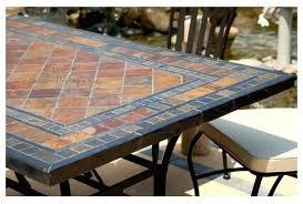 stone garden patio mosaic slate table 78