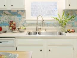 Budget Backsplash Projects DIY - Photo backsplash