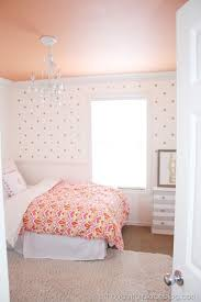 Kid Room Chandeliers by Girly Big Room Wall Decal Polka Dots Painted Ceiling