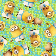 minion wrapping paper cotton fabric character fabric minion minions