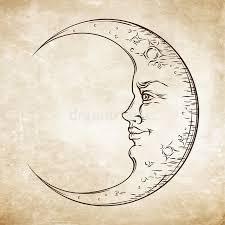 antique style crescent moon boho chic