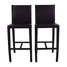 crate and barrel bar table 61 off crate and barrel crate barrel folio leather barstools