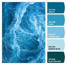 an ocean inspired color palette based on honolulu deep blue