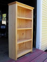 shaker adjustable bookshelf in reclaimed white pine by