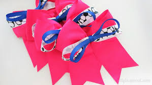 how to make hair bows how to make sports hair bows diy inspired