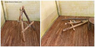 how to make a simple table top easel homemade obsessions twig art easel