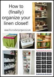 how to finally organize your linen closet life creatively