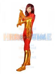 Phoenix Halloween Costume Men Dark Phoenix Spandex Superhero Costume