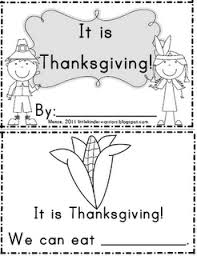 thanksgiving booklet for emergent readers and early literacy for