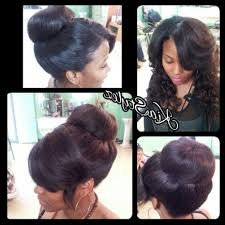 sew in updo hairstyles for prom extraordinary universal sew in weave updo w bow prom hair style