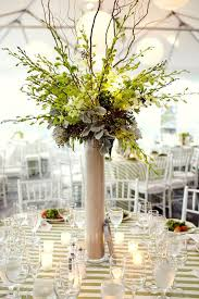 Curly Willow Centerpieces Tall White And Green Centerpiece Of Curly Willow With White