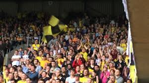 Blind Stupid And Desperate Watford Fc Foil Display Against Sheffield Wed 2nd May 2015