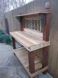 How To Build This Diy Workbench by Diy Garden Workbench Plans Diy Garden Work Bench How To Make An