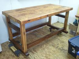 hand crafted black walnut and spalted maple workbench base by hall