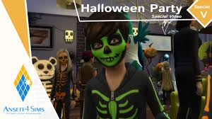 the sims 4 spooky stuff pack big halloween party youtube