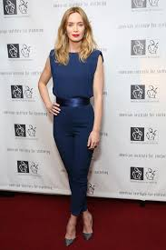 best dressed of the week 30 10 15 blue jumpsuits emily blunt