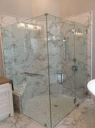 Frameless Shower Door Which Options For Frameless Shower Doors Builders Glass Of