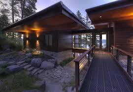 modern lakefront cabin in idaho usa cabins pinterest cabin